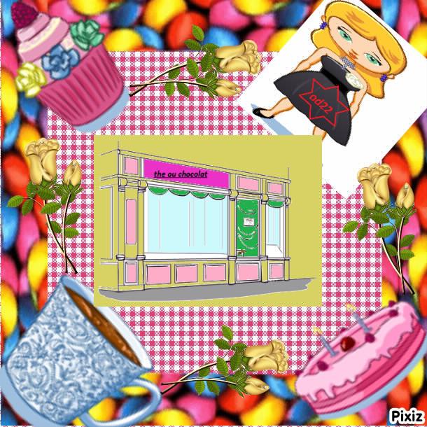 photo collage the ou chocolat jeu de cuisine