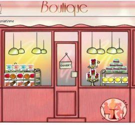 vitrine boulangerie patisserie rose macaron